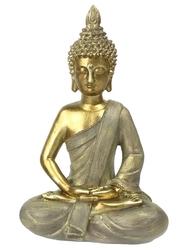 70429.1.Statuette Bouddha Dhyana Mudra en Résine Dorée
