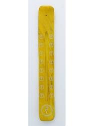 69628.1.Porte-encens Bâton Chakra du Plexus Solaire en Bois de manguier