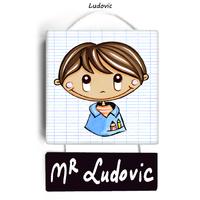 Plaque de porte de classe LUDOVIC