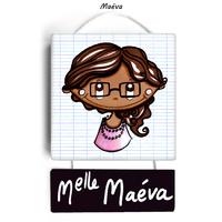 Plaque de porte de classe MAEVA - cadeau maitresse