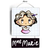 Plaque de porte de classe MARIE - cadeau maîtresse