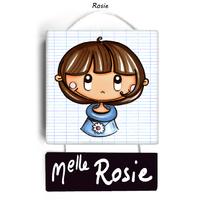 Plaque de porte de classe ROSIE - cadeau maîtresse