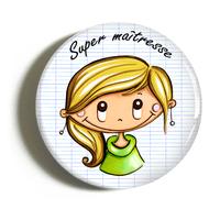 """Badge """"cadeau maîtresse"""" Aurélie"""