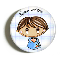 "Badge ""cadeau maître"" Ludovic"