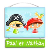"""Plaque de porte personnalisable """"Capitaine - Matelot"""""""