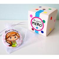 Magnet + boîte cadeau - Texte personnalisé