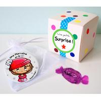 Magnet ou Badge Noël + boîte cadeau à décorer (ADULTE)