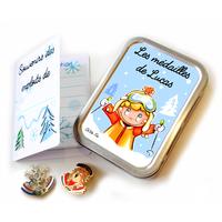 Boîte à médailles de ski SKI GARCON