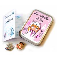Boîte à médailles de ski SKI FILLE