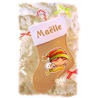 """Botte de Noël personnalisée """"Neige"""" Fille (3 coloris)"""