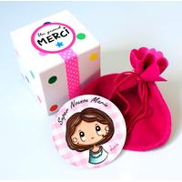 Miroir + boîte cadeau - Texte personnalisé