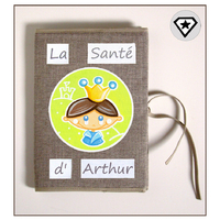 Protège carnet de santé personnalisable Petit Prince