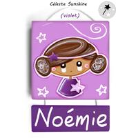 Plaque de porte personnalisable Céleste Sunshine (2 coloris)