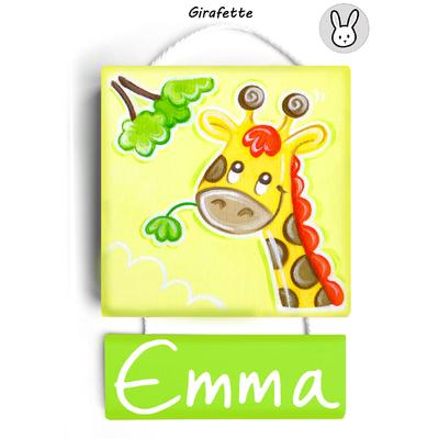 Plaque de porte Girafette