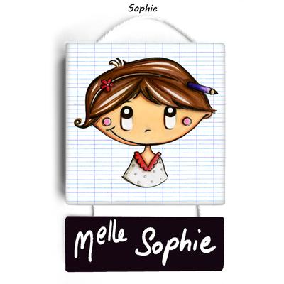 Plaque de porte de classe SOPHIE - cadeau maitresse