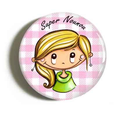 "Badge ""atsem/nounou"" Aurélie"