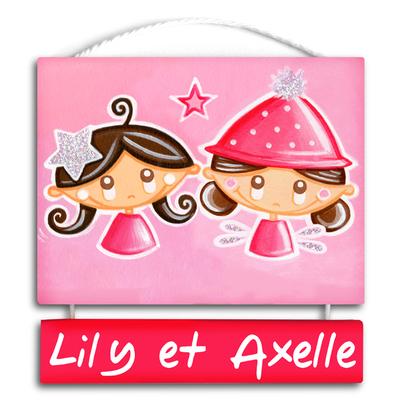 """Plaque de porte personnalisable """"Starlette - Paillette"""""""