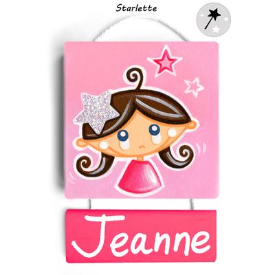 Plaque de porte personnalisable Starlette