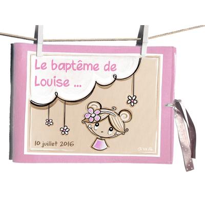 """Album de baptême illustré """"Fleurette"""""""