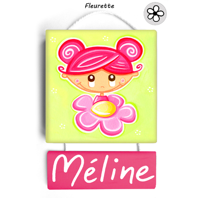 Plaque de porte personnalisable Fleurette