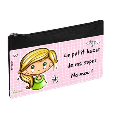 Trousse personnalisée - Motifs bébé - cadeau nounou/assistante maternelle/maman