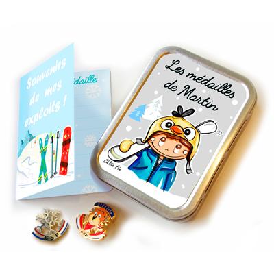 Boîte à médailles (ski, snow) MARTIN