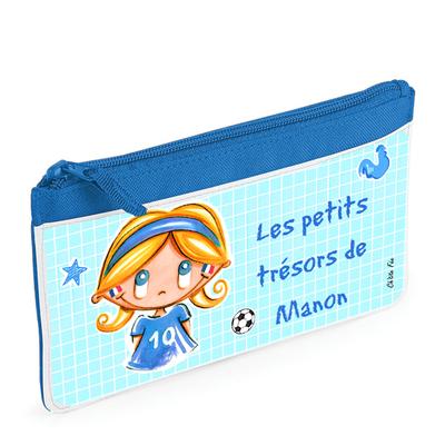 Trousse fille - Coupe du monde de foot 2018 - Personnalisée