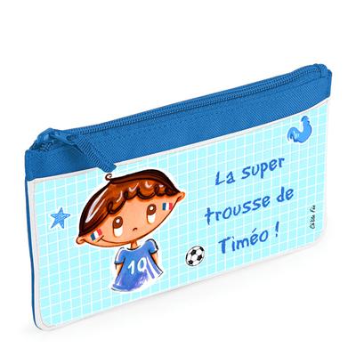 Trousse garçon - Coupe du monde de foot 2018 - Personnalisée