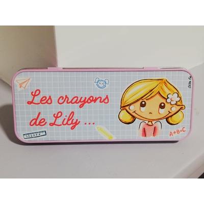 Boîte à crayons / Plumier personnalisé LILY