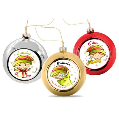 Boule de Noël personnalisée COLLECTION ENFANT (Plusieurs modèles au choix)