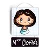Plaque de porte de classe CLOTILDE
