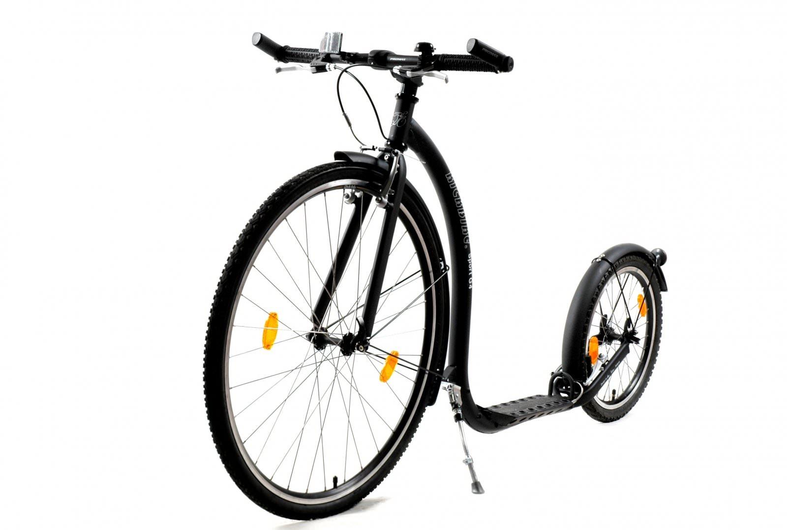 trottinette Kickbike Sport G4 Noire pour adultes, pratique sportive et vitesse jusque 100kg footbike