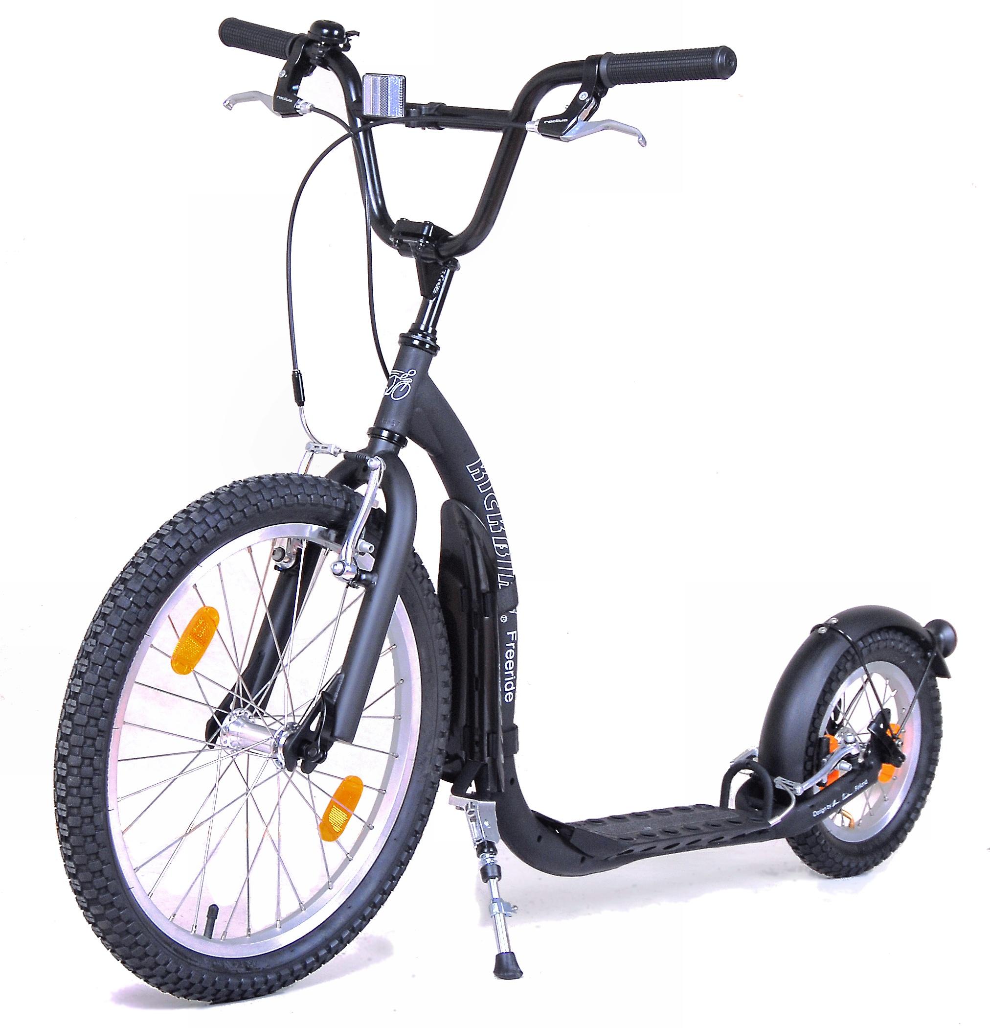 trottinette Kickbike Freeride NOIRE dès 7 ans jusque 180cm pour la famille enfant ou adulte