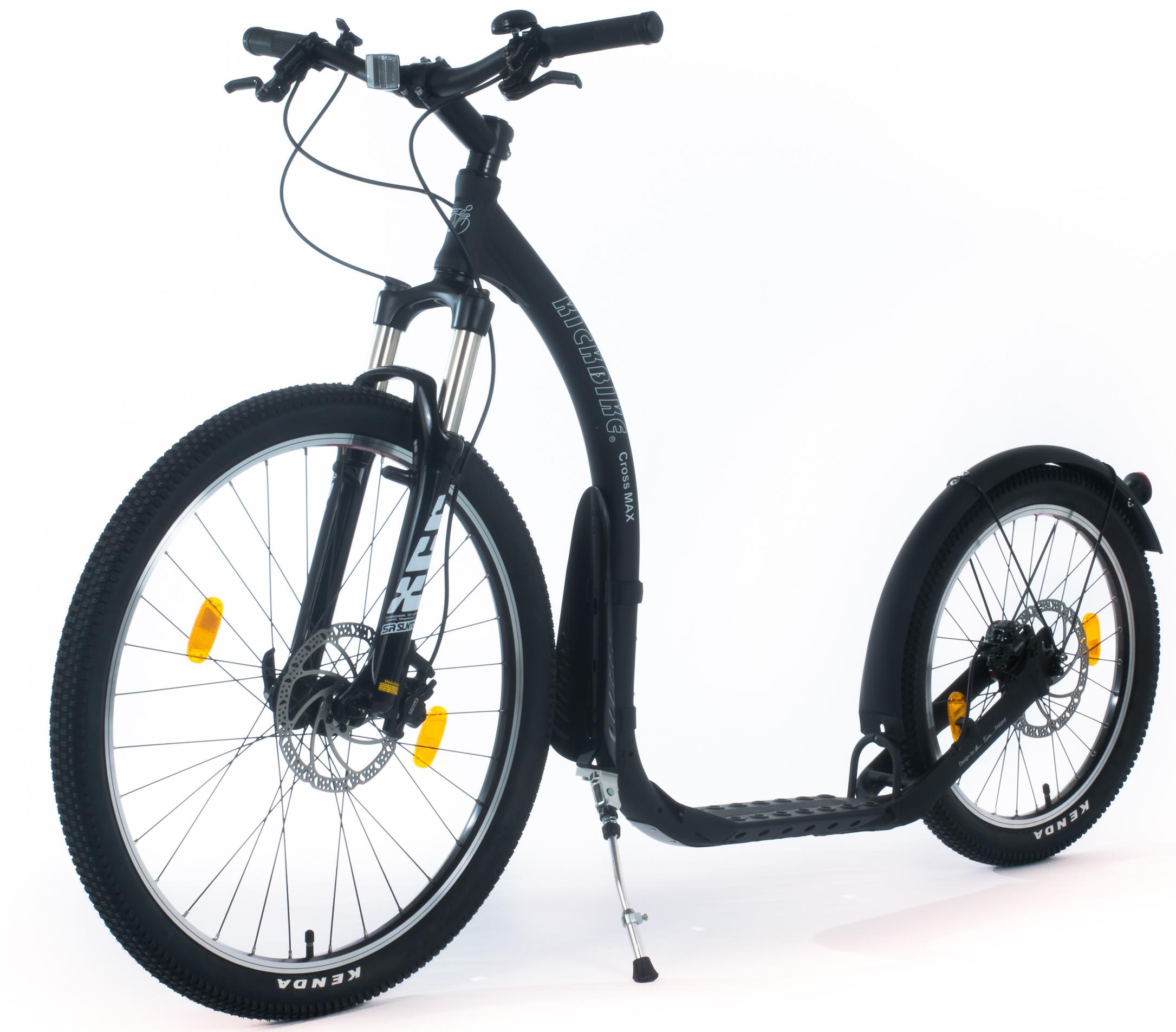 trottinette Kickbike Crossmax HD Noire cross tout terrain poids 10,7kg