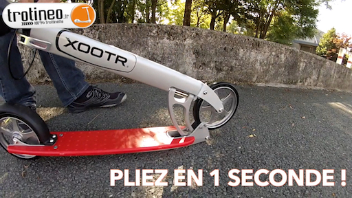 xootr pliage 1 seconde trotineo quick click s