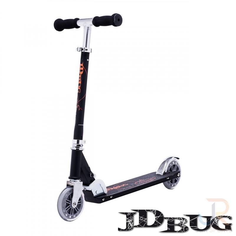 trottinette JDBug Classic Street 120 Noire dès 6 - 10 ans et Adulte supporte 100kg, roue 120mm avant 100mm arrière