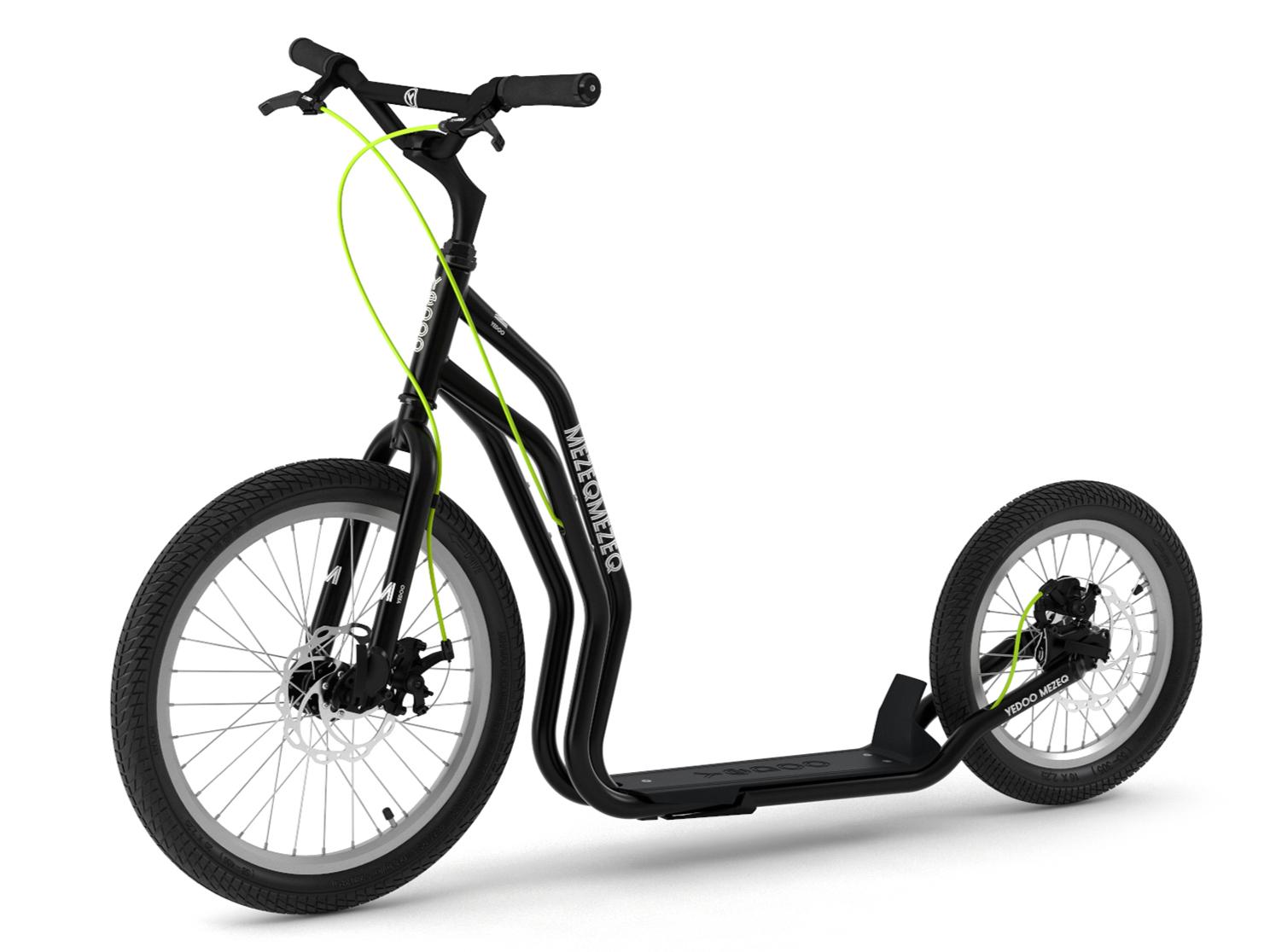 patinette new mezeq yedoo noire grande roues cross traction chien