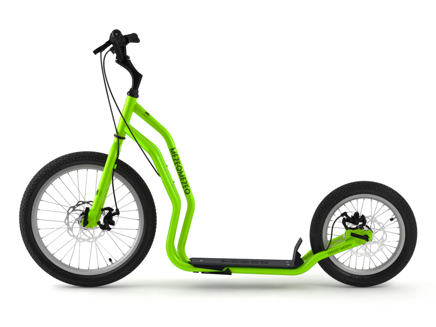 patinette new mezeq yedoo verte grosses roues poids maxi admissible 150kg