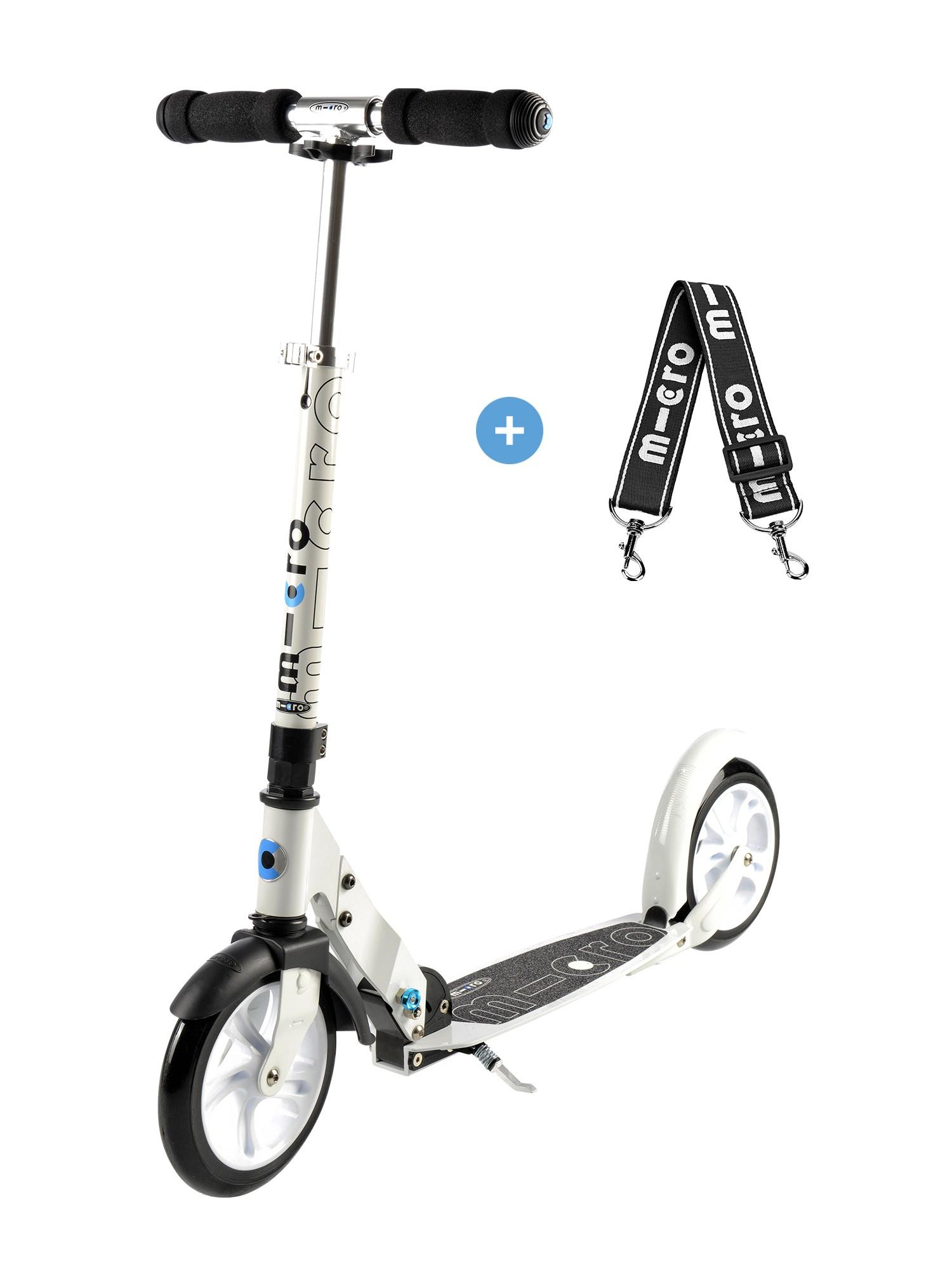 trottinette micro White adulte urbaine roue de 200mm rapide et stable