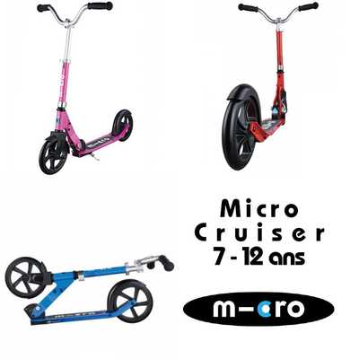collage micro trottinette cruiser pliable enfant