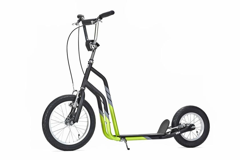 yedoo city line 16 12 noire verte pneu gonflable trotineo. Black Bedroom Furniture Sets. Home Design Ideas