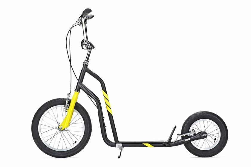 trottinette yedoo city line 16 12 noire jaune pneu. Black Bedroom Furniture Sets. Home Design Ideas
