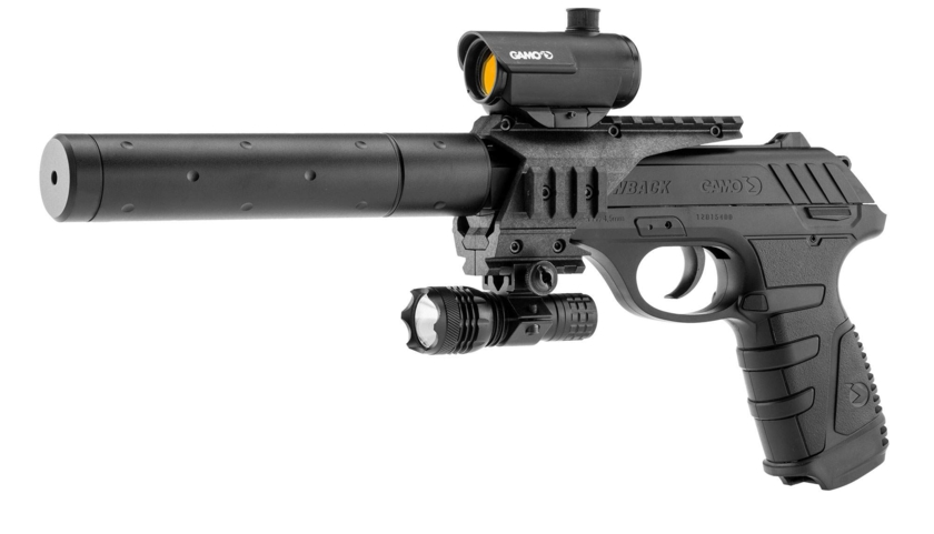pistolet à plomb avec laser
