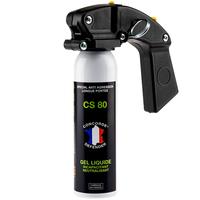 Bombe lacrymogène avec poignée gel cs 100 ml