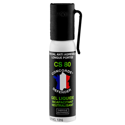Bombe de défense gel cs 25 ml