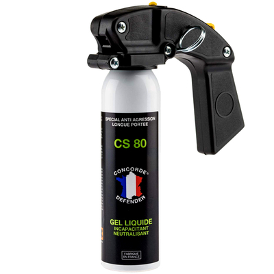 Mini extincteur lacrymogène avec poignée gel cs 100 ml