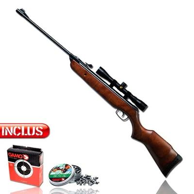 Pack carabine à plomb bois Gamo avec lunette de précision