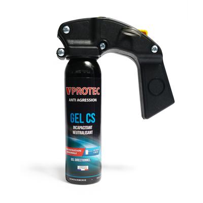 Mini extincteur lacrymogène avec poignée gel  100 ml VPROTEC