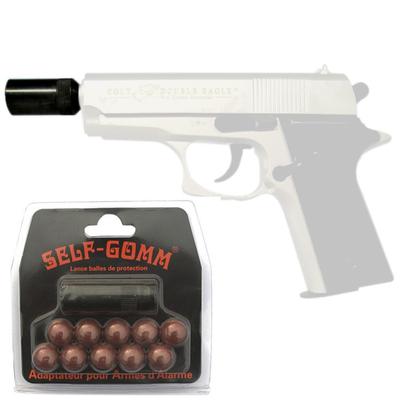 Adaptateur M10 pour pistolets de défense + 10 balles Self-gomm