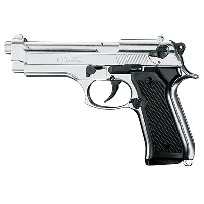 Pistolet de défense Beretta 92 F calibre 9mm chrome